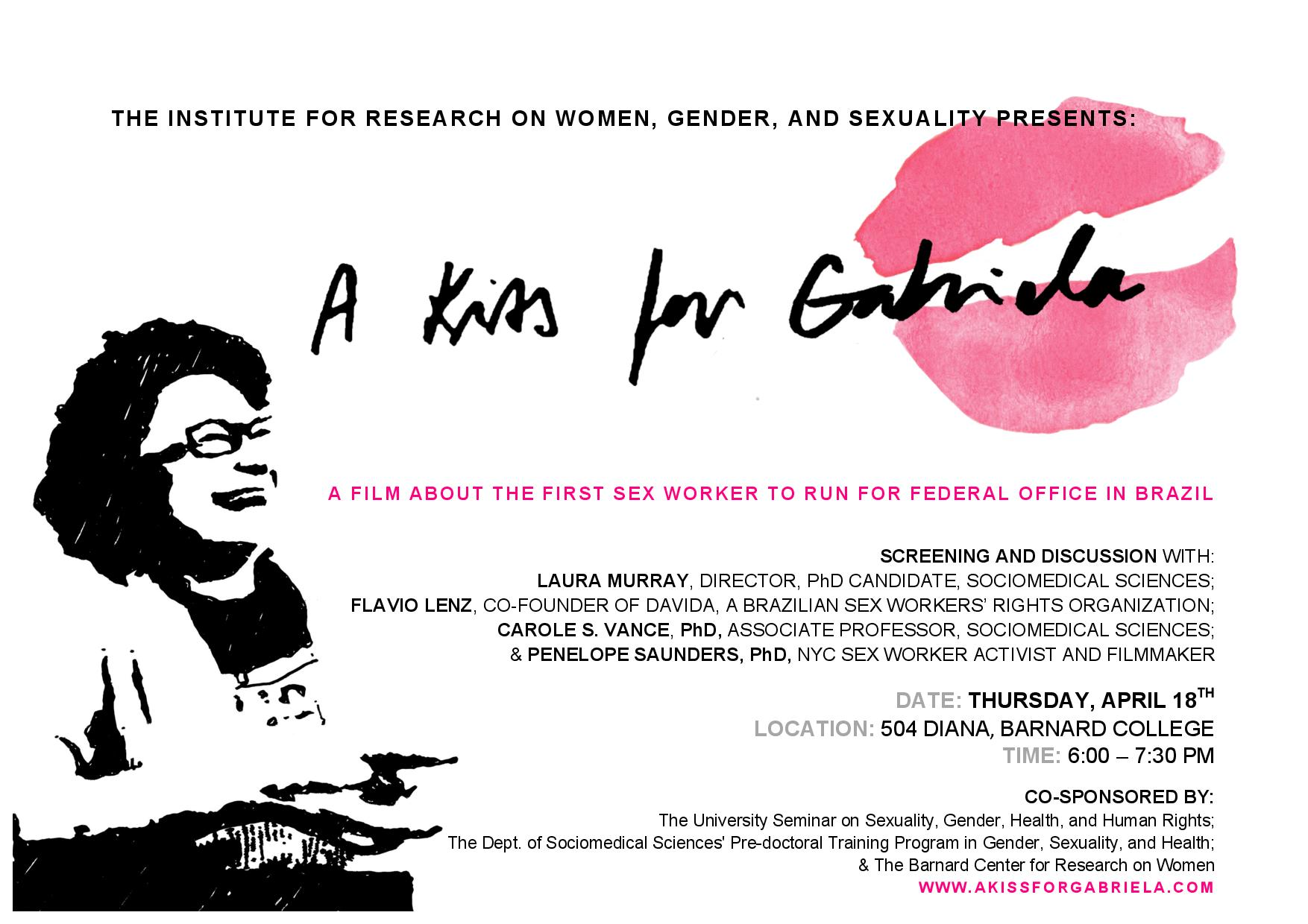 A Kiss for Gabriela: A Film and Discussion